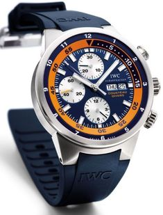 """Diamond Watches Collection : IWC Aquatimer Chronograph """"Cousteau Divers"""" - Watches Topia - Watches: Best Lists, Trends & the Latest Styles Dream Watches, Luxury Watches, Cool Watches, Watches For Men, Men's Watches, Diamond Watches, Men's Accessories, Iwc Chronograph, Breitling Watches"""
