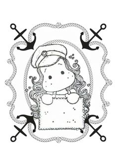 Coloring Books, Coloring Pages, Cricut Air, Sketch 2, Black And White Drawing, Tole Painting, Digi Stamps, Kids Cards, Cute Art