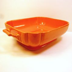 Riviera Homer Laughlin orange casserole dish vintage...