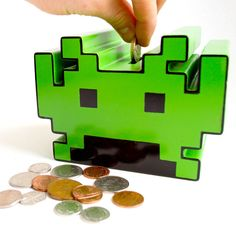 Space Invader bank. Classy stuff right here.