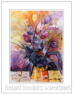 Tulips, Flowers, Painting, Art, Craft Art, Floral, Paintings, Tulip, Kunst