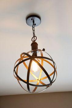 DIY Industrial Rustic Pendant Light | Bless'er House: