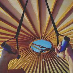 Hanging out in the yurt. #monkiibars2 @wildmanvinson #yurt #travel #workoutmotivation #workoutanywhere #tinyhouse #yurtlife #nomad #nature #namaste #style #photography #fitfam #gymnastics #gymlife #adventure #optoutside #bewild