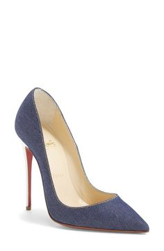 Christian Louboutin 'So Kate' Denim Pointy Toe Pump at Nordstrom.com