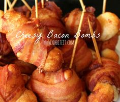 ~Cheesy Bacon Bombs! I think a slice of jalapeño would make these perfect!