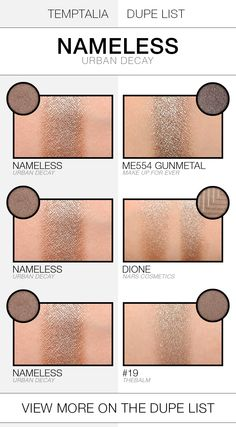 Urban Decay Nameless Dupes & Comparisons