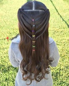 Half up elastic mermaid heart braid ❤️ - Kinderfrisuren Lil Girl Hairstyles, Girls Hairdos, Easy Hairstyles For Kids, Pretty Hairstyles, Braided Hairstyles, Kids Hairstyle, Toddler Hairstyles, Medium Hairstyles, Heart Hairstyles