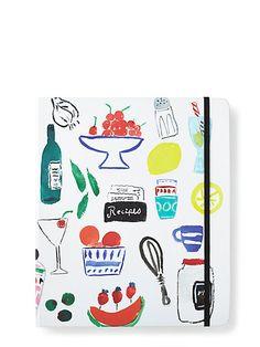 bella pantry recipe book - kate spade new york - LOVE the set up