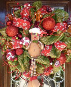 gingerbread wreath... Second favorite