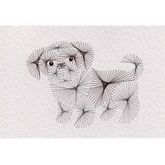 Stitching Cards Shih Tzu puppy