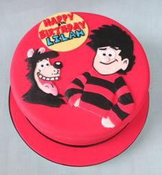 Beano Dennis and Gnasher Birthday Cake Katy Made Cakes. Beautiful and delicious cakes for every occasionKaty Made Cakes