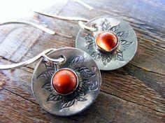 Red Jasper Earrings Rustic Red Jasper Dangle by HelenesDreams, $48.00