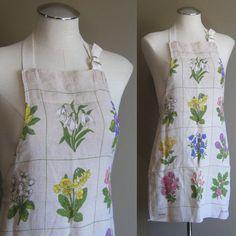 vintage DUNMOY Pure Irish Linen Apron   #vintage #irishlinen #apron