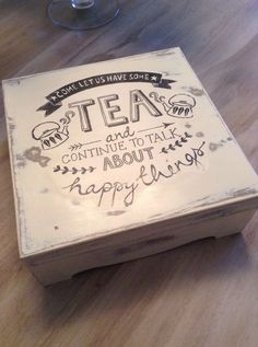 How to #DIY tea box with chalk paint and mod podge