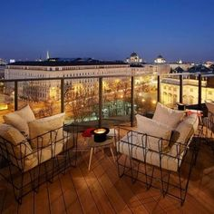 Hotel Wien is a design hotel located at MuseumsQuartier in Vienna, has 219 rooms, 1500 Foodmakers Restaurant and Dachboden Bar with a view of Vienna Rooftop Design, Rooftop Terrace, Rooftop Gardens, Bar Lounge, Hotel Brunch, Deco Cafe, Cities, Vienna Hotel, Outdoor Furniture Sets