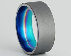 Titanium Ring Wedding Band Titanium Wedding by RomasBanaitis