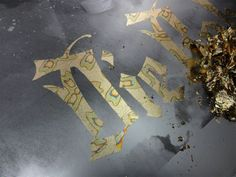 Gold Leaf Typography