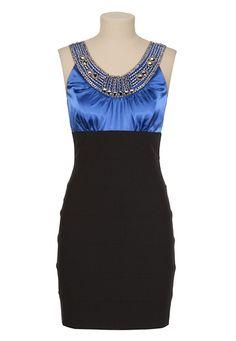 Embellished Satin 2Fer Dress - maurices.com