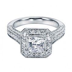 Vintage Engagement Ring Setting #jewelry #diamonds