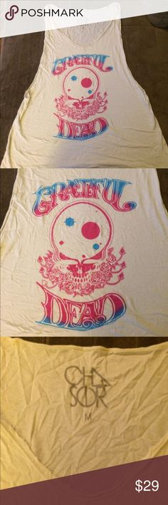 Chaser Grateful Dead women's tank Gently worn Chaser Tops Tank Tops