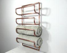 Aufbereitetem Kupfer Handtuchhalter Kupfer von frenchvintagedream