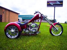 PCW (Precision Cycle Works) Chopper Trike. http://pcwbikes.com/Tri-Cycle.htm