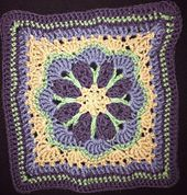 "Ravelry: Tussy-Mussy 12"" square pattern by Rebecca Bisbing"