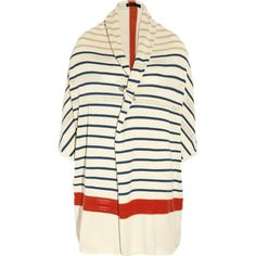 Elizabeth and James Striped knitted cotton cardigan
