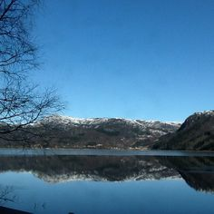 Lund kommune, Rogaland. En klar vinterdag i februar.