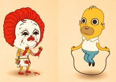 Funny Cartoon Illustrations of Famous Characters by Mike Mitchell