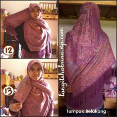True Hijab | Syar'i | Khimar syar'i, tutorial using wide pashmina :')