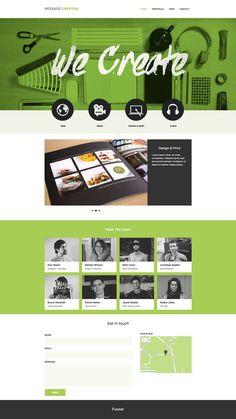 """Message creative"" in Graphic Design — Web"