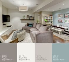 Basement family room decorating ideas architecture home design : awesome ru Light Paint Colors, Best Paint Colors, Small Living Rooms, Living Room Decor, Casa Patio, Basement Remodeling, Basement Ideas, Dark Basement, Remodeling Ideas