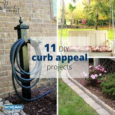 Kickstart Spring with these 11 #DIY curb appeal projects via Schlage  #CurbAppealContest