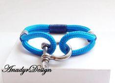 FREE SHIPPING, Unisex bracelet,Anchor bracelet,Men jewelry,Gift for Him,gift ideas, paracord bracelets, Men's bracelets, Nautical bracelet