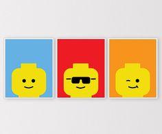 Custom Lego Wall Art Lego Prints Customized by ClaresPrintables