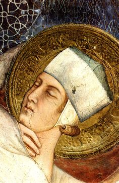 SIMONE MARTINI (1285 -1344) - The Dream of Saint Martin,detail - 1312/17. Fresco, 265 x 200 cm. Cappella di San Martino, Lower Church, San Francesco, Assisi.