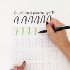 Want to get better at brush lettering? Get practicing with this guide! http://shop.randomolive.com/brushpractice?utm_content=bufferf43a6&utm_medium=social&utm_source=pinterest.com&utm_campaign=buffer. #brushlettering
