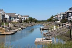 Rent a beach house with your own private dock. Sunset Beach, NC