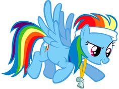 Rainbow Dash----Treinadora Das Ponys da Abertura do jogos de Equestria