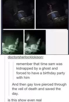 Gay love pierced through the veil of death and saved the day. How beautiful :*)