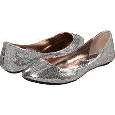 Steve Madden Metallic Silver Flats