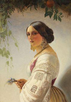 Carl Timoleon von Neff (1804-1877) - Portrait of a Young Lady