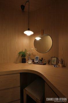 [시공사례] 철산 두산위브 / 24평 / 구정 브러쉬골드 애쉬브라운 / 따뜻한 우드 포인트 인테리어 / interior by 카멜레온 디자인 : 네이버 블로그 Contemporary Design, My House, Ceiling Lights, Lighting, Bedroom, Architecture, Wood, Interior, Home Decor