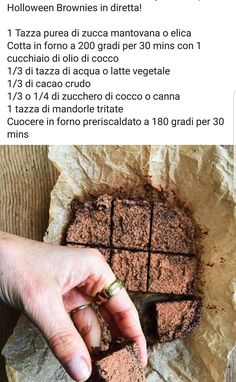 Brownies di zucca