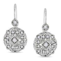 Miadora 10k White Gold 1/8 CT TDW Diamond Leverback Earrings (G-H, I1) $291.