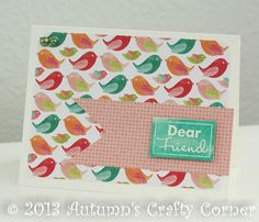 """Dear Friend"" Handmade Card by Autumn Geddes"