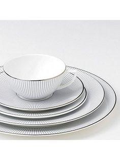 Jasper Conran Pin stripe dinnerware