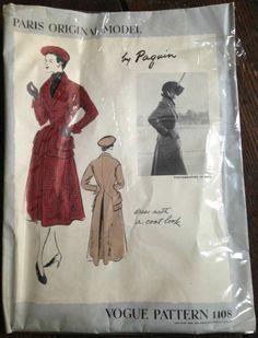 Vogue Paris Original 1108, Paquin, ca 1950