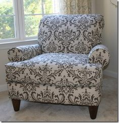 DIY Reupholstering - LOVE this blog. Now I just have to do what she did!